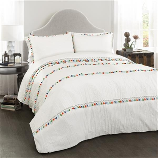 Lush Decor Boho Tassel 3-Piece Comforter Set,16T002478