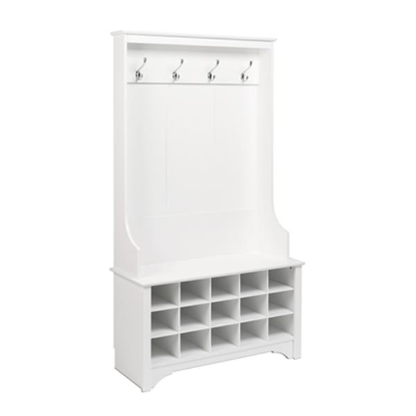 Prepac Furniture Hall Tree with Shoe Storage,WSOG-0011-1