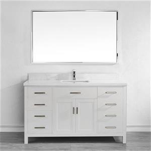 Spa Bathe 60-in Kenzie Series Bathroom Vanity,KZ60WHt-SSC