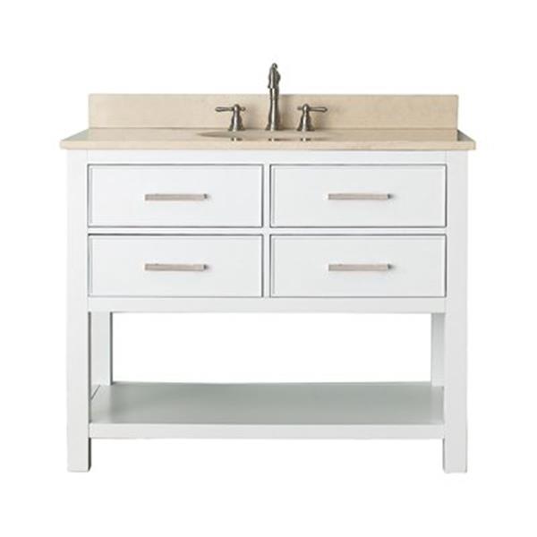 Avanity 42-in Brooks Bathroom Vanity Combo,BROOKS-VS42-WT-B