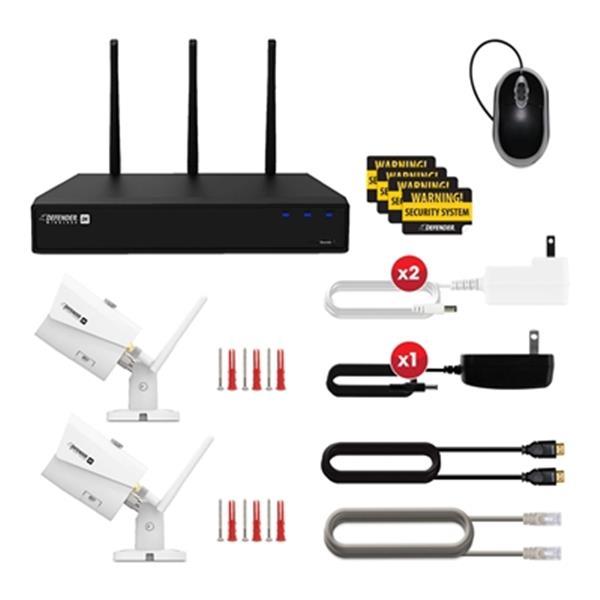Système de sécurité Defender 2 K (4mp) sans fil 4 caméras WIFI 4 canaux 1TB NVR