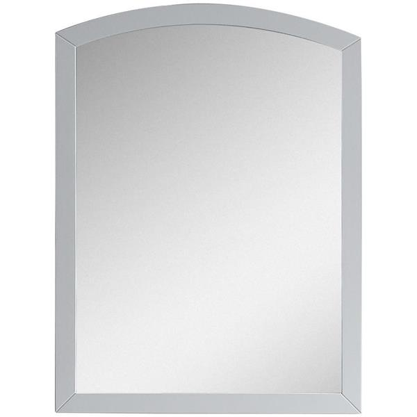 "Bow Mirror - 23.62"" x 31.5"" - Wood - White"