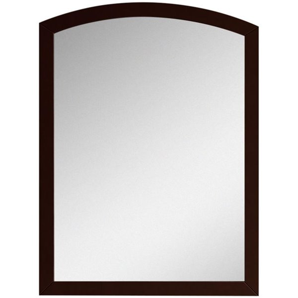 "Bow Mirror - 23.62"" x 31.5"" - Wood - Brown"