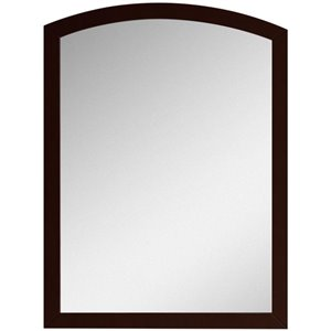 """American Imaginations Bow Mirror - 23.62"""" x 31.5"""" - Wood - Brown"""