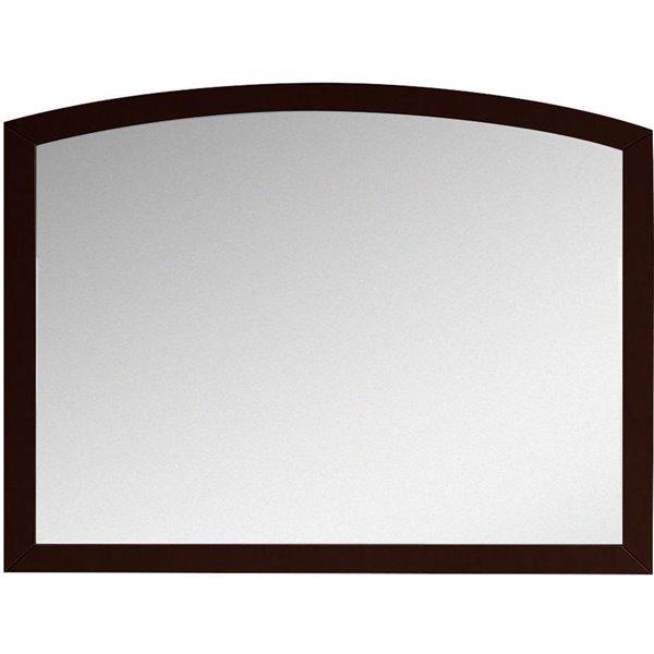"""Miroir Bow, 35,43"""" x 25,6"""", bois, brun"""