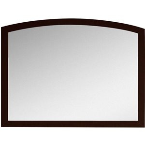 "American Imaginations Bow Mirror - 35.43"" x 25.6"" - Wood - Brown"