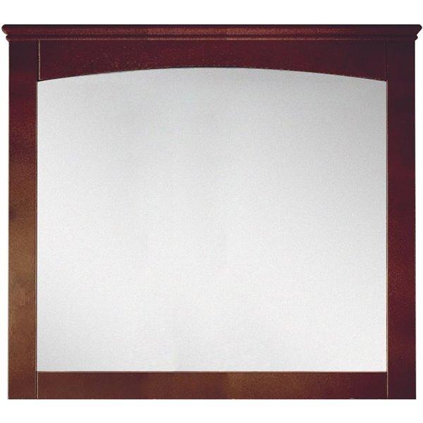 "Shaker Mirror - 36"" x 31.5"" - Wood - Brown"
