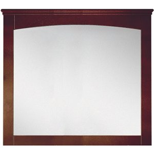 "American Imaginations Shaker Mirror - 36"" x 31.5"" - Wood - Brown"