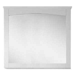 "American Imaginations Shaker Mirror - 36"" x 31.5"" - Wood - White"
