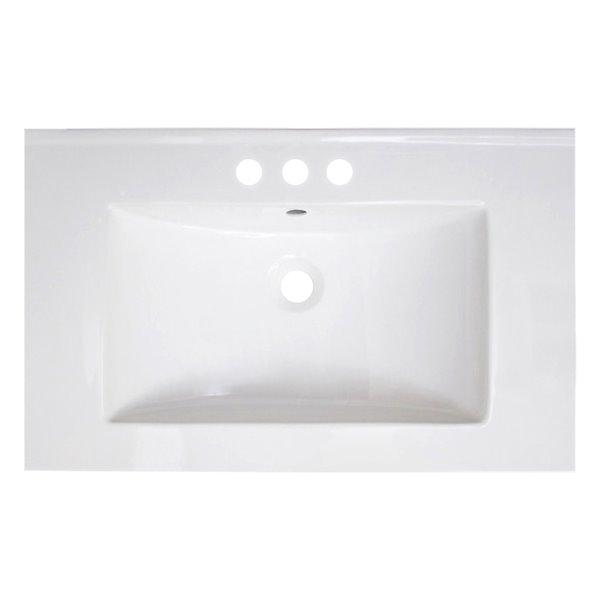 American Imaginations Vee Ceramic Top Set Single Sink 30 White Ai 1200 Rona