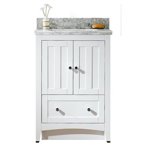 "American Imaginations Shaker Vanity Set  - Single Sink - 23.75"" - White"