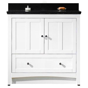 "American Imaginations Shaker Vanity Set  - Single Sink - 36"" - White"