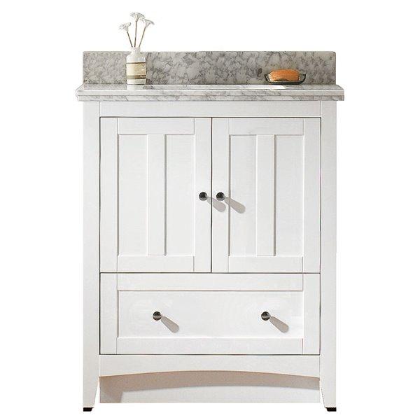 "American Imaginations Shaker Vanity Set  - Single Sink - 30.5"" - White"