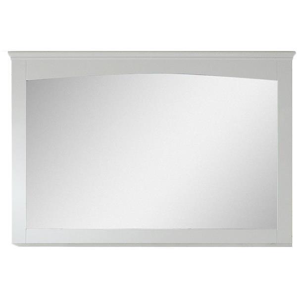 "Miroir Shaker, 48"" x 31,5"", bois, blanc"