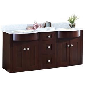 Tiffany Vanity Set  - Double Sink - 61.8