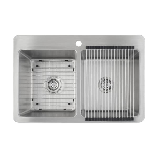 Valencia Dual-Mount Double Kitchen Sink - 33""