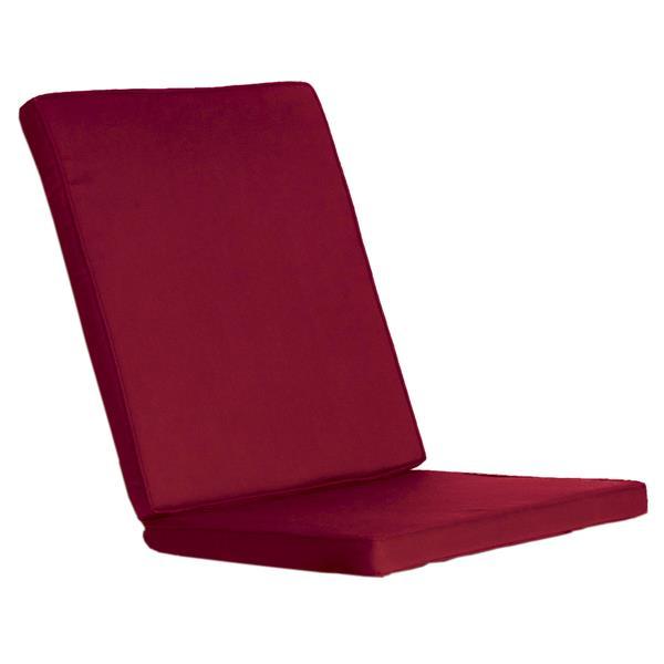 Coussins de chaise extérieur, Rouge