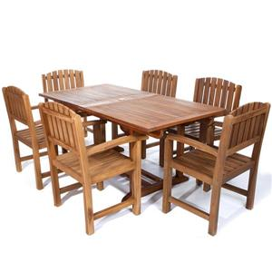 Teak Dining Chair Set - 7 Pieces