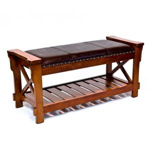 Padded Entryway Bench, Cherry
