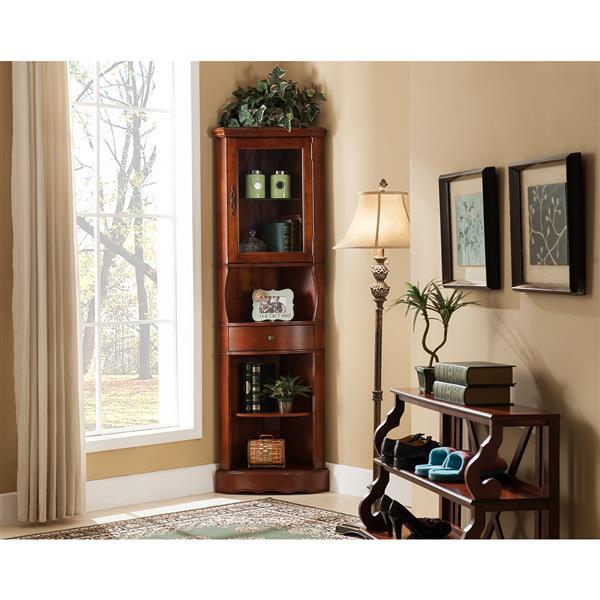 "All Things Cedar Corner Curio Cabinet - Cherry - 24""x 15""x 78"""