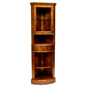 Corner Curio Cabinet - Cherry - 24