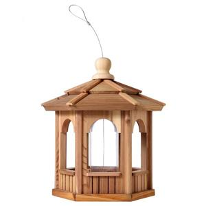 Hexagon Cedar Birdfeeder