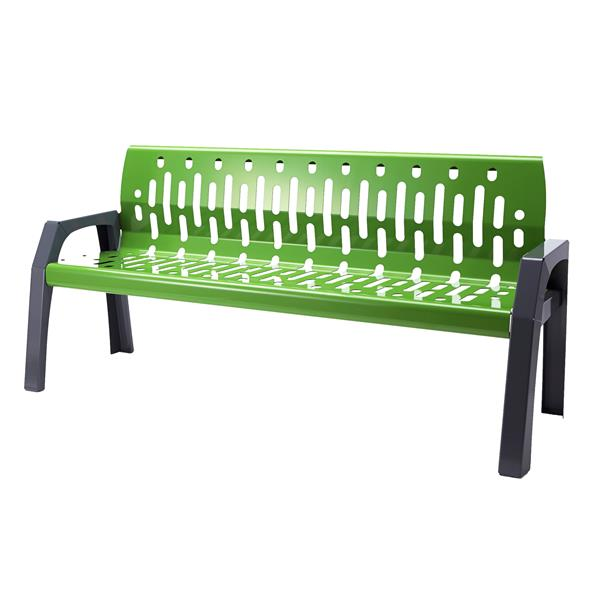 Frost Stream Steel Bench - 6' - Green