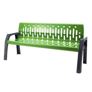 Frost Stream Steel Bench - 6' - Green