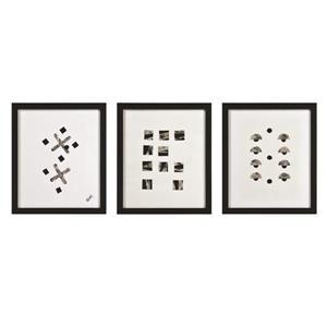 "Ornement mural Portia, 20"" x 17"", toile, 3 pièces"