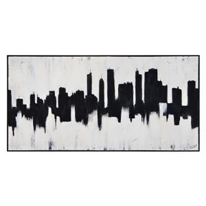 """Ornement mural Barnes, 30"""" x 60"""", toile, noir"""