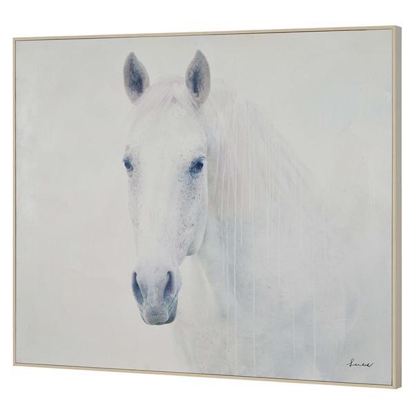 "Ornement mural Barnum, 40"" x 50"", toile, blanc"