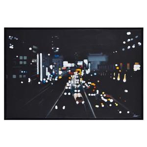"Ornement mural Otto, 40"" x 60"", toile, noir"