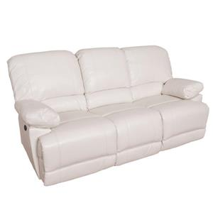 Sofa inclinable électrique en cuir reconstitué, blanc