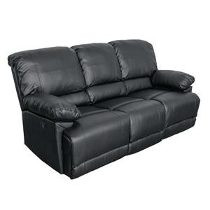CorLiving Bonded Leather Power Reclining Sofa