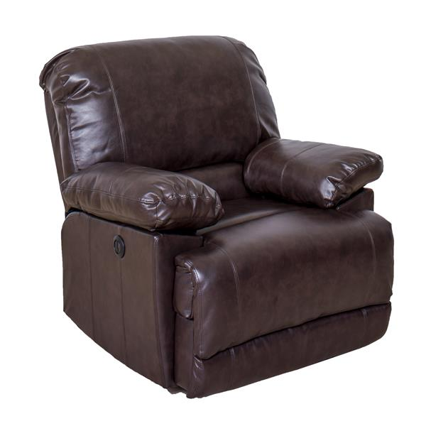 CorLiving Leather Recliner with USB Port