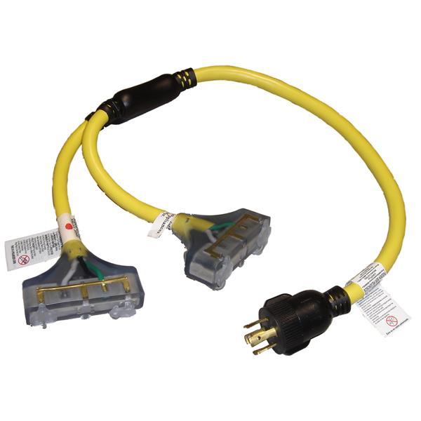 Universal 10/4, 240V Generator Twist-Lock Adapter 3'