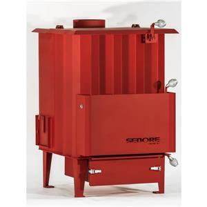 Poêle à Biomasse Polycombustible Canada 3000, Rouge