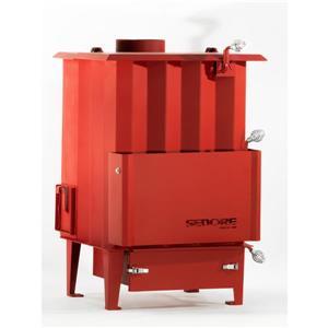 Poêle à Polycombustible Biomasse Canada 2000, Rouge