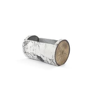 Horizontal White Birch Planter - 16.5''