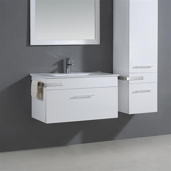Maxen Single Sink White Vanity with Top - 35''