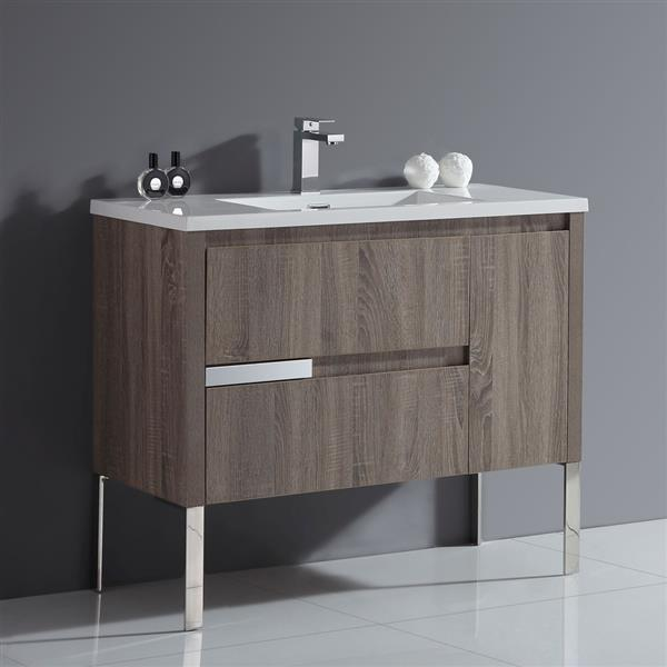 Davidci Single Sink Taupe Vanity - 40''
