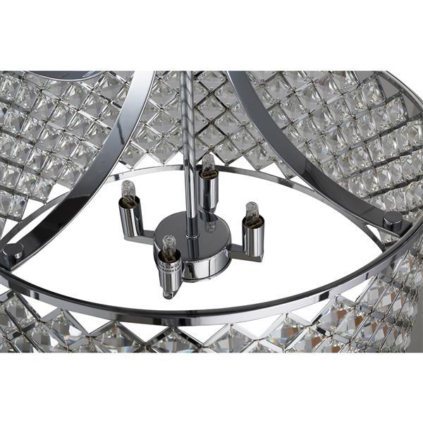 Suspension luminaire Baker II, 4 lumières à DEL