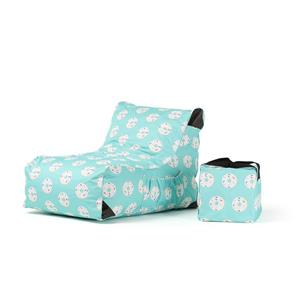 Patio Inflatable Lounge Chair - Paola Donut Print Green