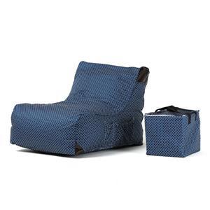 Chaise de patio , imprimé bleu