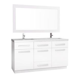 Meuble-lavabo double avec miroir Moscony, 60