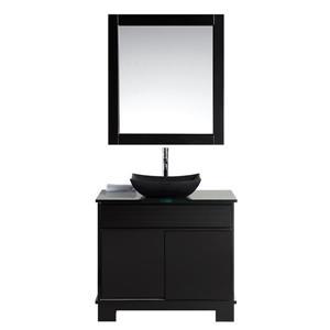 """Meuble-lavabo avec miroir Oasis, 36"""", espresso"""