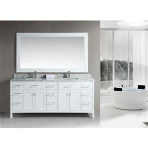 London Double Vanity with Matching Mirror - 78