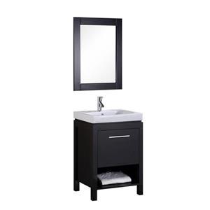 New York Single Vanity with Matching Mirror - 24