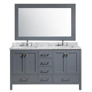 London Double Vanity with Matching Mirror - 61