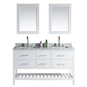Meuble-lavabo double avec miroir London, 61
